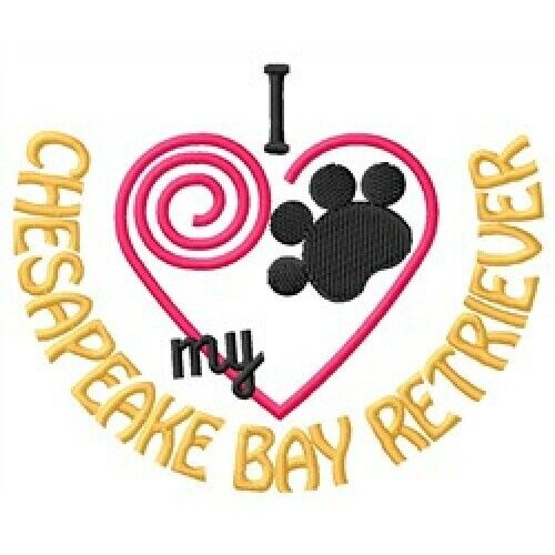 "I ""Heart"" My Chesapeake Bay Retriever Short-Sleeved T-Shirt 1351-2 Size S - XXL"
