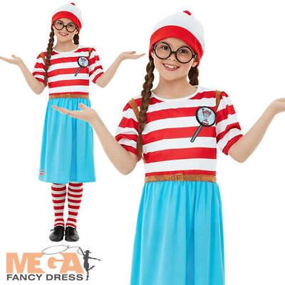 Where's Wally Wenda Girls Fancy Dress World Book - Where's Wally Wenda Kostüm