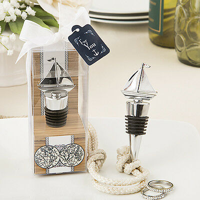 Nautical Themed Party Supplies (1 Sail Boat Ship Wine Bottle Stopper Wedding Favor Beach Theme Nautical)