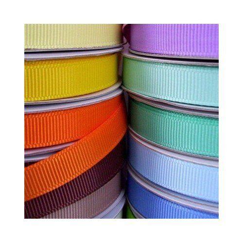 "Solid Grosgrain Ribbon 50 Yards Roll, 3/8"" 5/8"" 7/8"" 1.5"" Bulk"