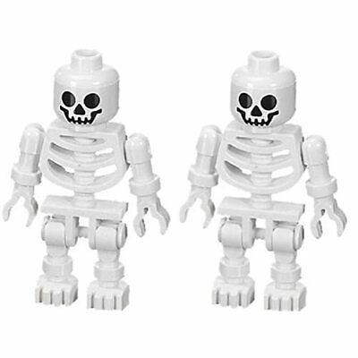 2 NEW LEGO SKELETON LOT halloween minifig minifigure figure pirates castle toy