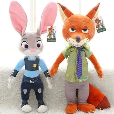 NEW 2PCS Set Zootopia/Zootropolis Judy Hopps And Nick Wilde Plush Toys Doll 30CM