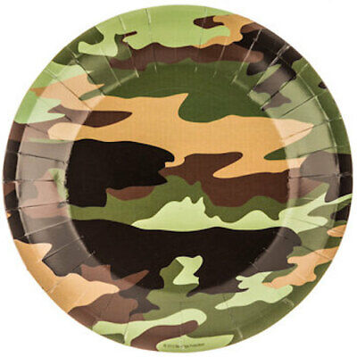 Camouflage Table Decorations (Camouflage Plates Table Decoration Party Supplies Special Events 10)