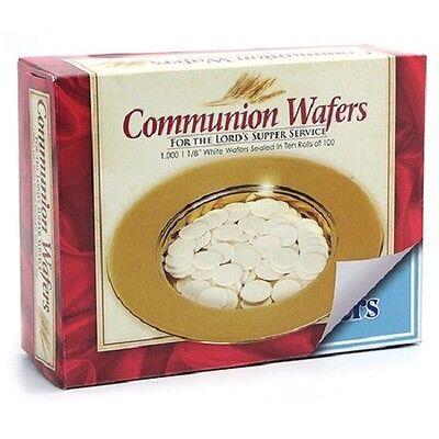 Communion Bread Wafers Plain Round Box of 1000 - White Unlevened Bread 430511