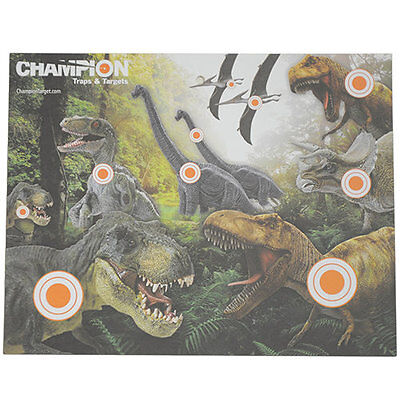 Champion Traps and Targets Paper Targets - Dinosaur Hunt, 12 Pack, mfg (Champion Paper)