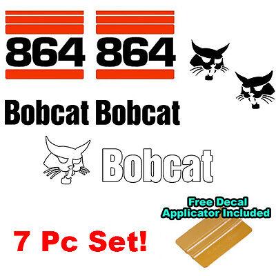 Bobcat 864 Skid Steer Set Vinyl Decal Bob Cat Sticker Set 7 Pc Made In Usa