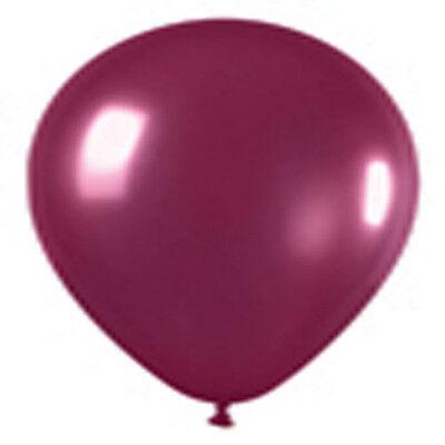 Burgundy Balloons (12 CRYSTAL BURGUNDY LATEX BALLOONS HELIUM GRADE)