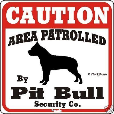 Pit Bull Caution Dog Sign