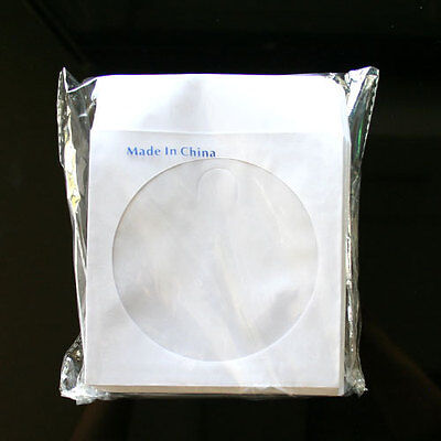 500 Paper Sleeve FLAP CLEAR WINDOW for CD DVD (80G)  ()