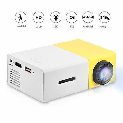 Fosa Mini Projector Portable 1080P LED Projector Home Cinema (YG300 Yellow)