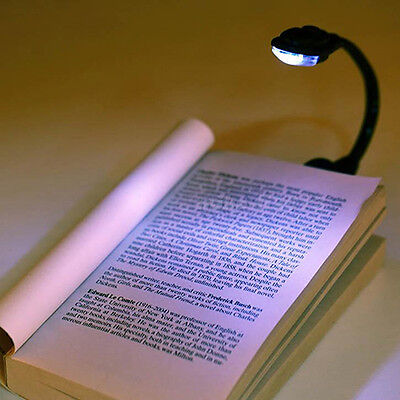 Striking Mini White LED Clip Booklight Portable Travel Book Reading Light Lamp