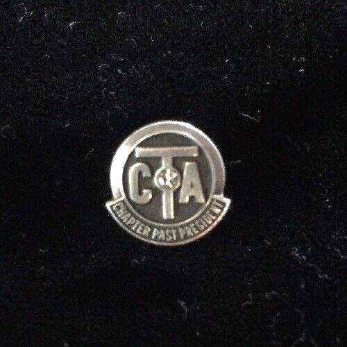 CTA Past President Sterling Silver Pin California Teachers Association