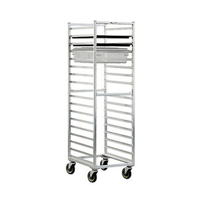 New Age 1484 Mobile Full Height Poly Box/Sheet Pan Rack W/ 17 Slides