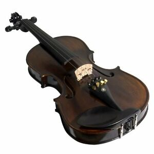 Ebony Fitted Flamed One-Piece Solid Wood Violin  (Brand new) Kitchener / Waterloo Kitchener Area image 5