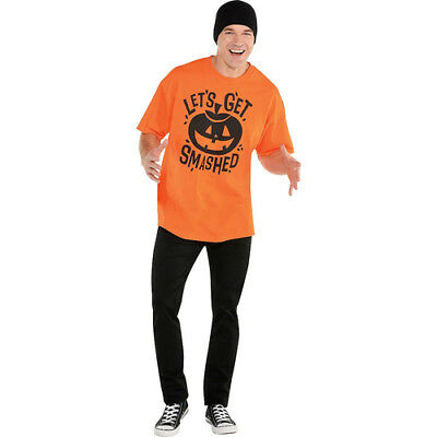 HALLOWEEN Let's Get Smashed  EXTRA LARGE ADULT T-SHIRT ~ Party Supplies Dress Up