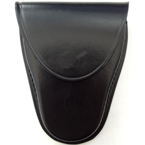 HANDCUFF POUCH CASE HOLDER PLAIN BLACK POLICE HEAVY DUTY