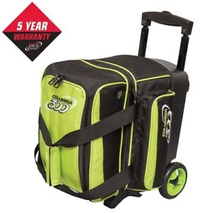 Columbia 300 Icon 1 Ball Roller Bowling Bag With Wheels Lime Green
