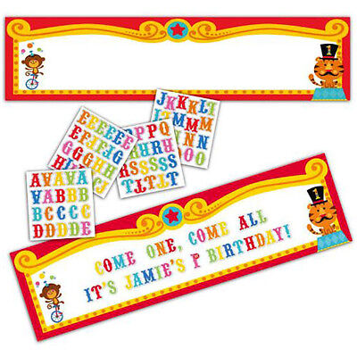 FISHER PRICE 1st BIRTHDAY CIRCUS CUSTOMIZABLE GIANT BANNER ~ Party Supplies Red - 1st Birthday Circus Party Supplies