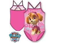 girls paw patrol swimming suit 18mths to 3years