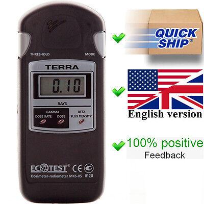 New Terra Mks 05 Ecotest Dosimeter Radiometer Geiger Counter Radiation Detector