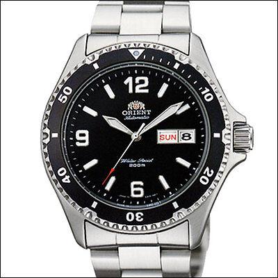 Orient Black Mako II Automatic, Hand Wind, Hacks, Watch #AA02001B, FAA02001B