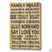 Family Sign Wooden