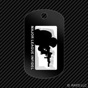 Major League Infidel Keychain GI dog tag engraved many colors