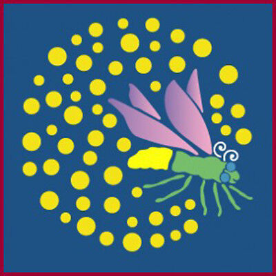 FIREFLY STENCIL, WHIMSICAL, CHILDREN, INSECT STENCILS -The Artful - Firefly Insect