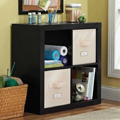Better Homes and Gardens 4 Cube Square Organizer Storage, Multiple