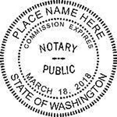 Self-inking Round Washington Notary Seal Rubber Stamp