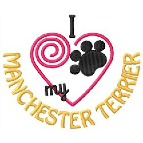I Heart My Manchester Terrier Ladies Short-Sleeved T-Shirt 1391-2 Size S - XXL