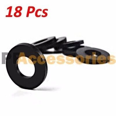 "18 Pcs 3/4"" inch OD O-Ring Hose Gasket Flat Rubber Washer Lot for Faucet Grommet"
