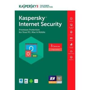 Kaspersky Internet Security 2018 Key Online 365 Days 1 Year 3 Users Authorized Reseller