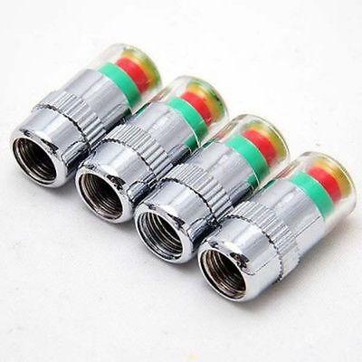 4 X 32 PSI Car Tyre Pressure Monitor Valve Stem Alert Cap Sensor Indicator FIt