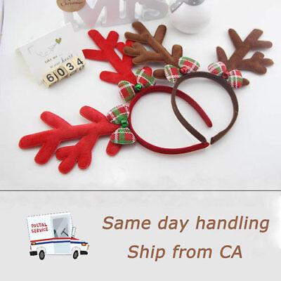 2 × Christmas Headband Reindeer hairband Deer Antlers Horn for Kids and - Kids Reindeer Antlers