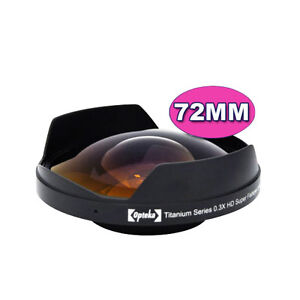 Opteka 0.3X 72mm Ultra Fisheye Video Death Lens 72 NEW
