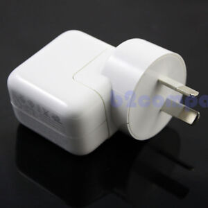 OEM 12W 100-240V USB iPad 1 2 3 Mini White AU Wall Charger Adapter
