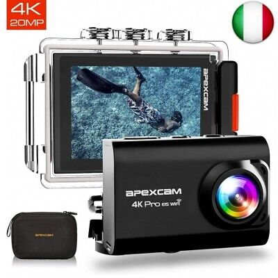 Apexcam ?2019 Nuova? Action Cam PRO Fotocamera 4K EIS WiFi 20MP Ultra HD