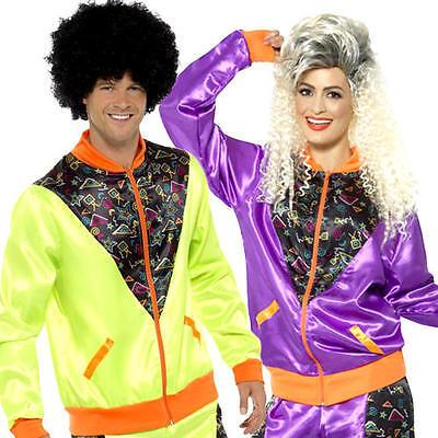 Retro Shell Suit Adults Fancy Dress Tracksuit 1980s Scouser Mens Ladies Costume