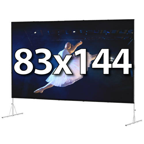 DA-LITE 88609 - FAST-FOLD DELUXE 83x144 COMPLETE KIT - FRONT PROJECTION - T-LEGS