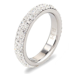 STAINLESS STEEL LADIES ETERNITY RING- size8