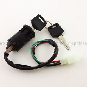 4 wire key switch for 4 wheeler 50cc 110cc pit dirt baja ... baja 50cc key switch wiring diagram