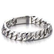Mens Heavy Silver Bracelet