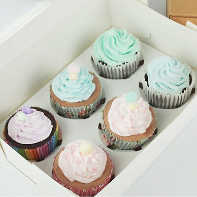 2 4 6 Bakery Cake Wedding Party Favor Muffin Cupcake Box With Window Insert Tray