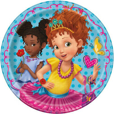 Fancy Paper Plates (FANCY NANCY SMALL PAPER PLATES (8) ~ Birthday Party Supplies Dessert Cake)