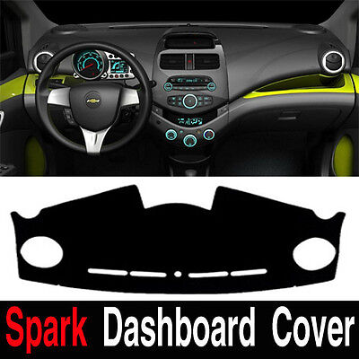 Chevrolet Spark Dashboard Cover Mat RH  Black Color Sun Cover