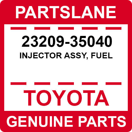 23209-35040 Toyota Oem Genuine Injector Assy, Fuel