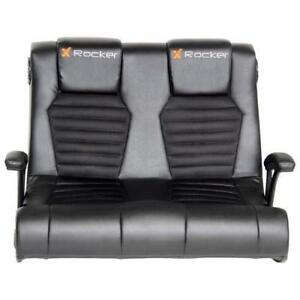 X-Rocker 5128101 Dual Ergonomic Mid-Back Gaming chair Rocker  Black ***READ***