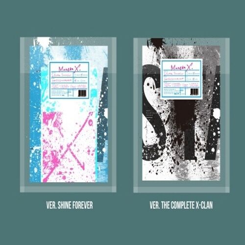 Monsta x[shine forever]2 set cd+poster+booklet+bromide+card+etc+gift+tracking