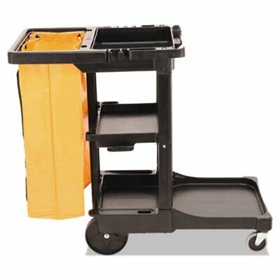 Rubbermaid 6173-88 Janitor Cleaning Cart Wvinyl Bag Black Rcp 6173-88 Bla